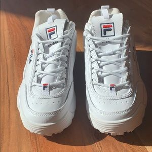 FILA -white shoes size women's 10